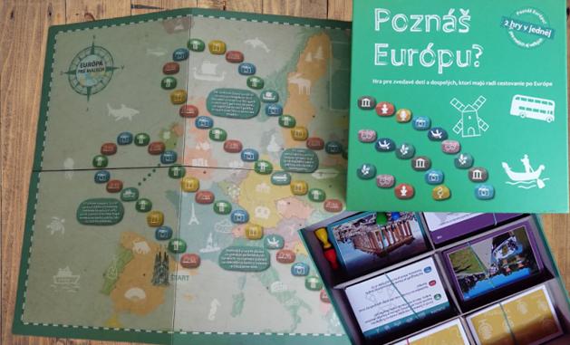 Poznáš Európu spoločenská hra