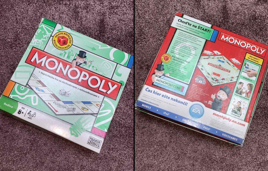 Monopoly spoločenská hra